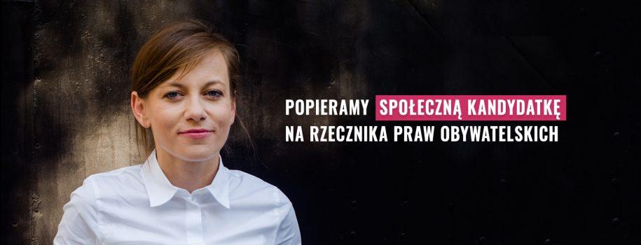 Poparcie inicjatywy dla Zuzanny Rudzińskiej-Bluszcz, społecznej kandydatki na RPO